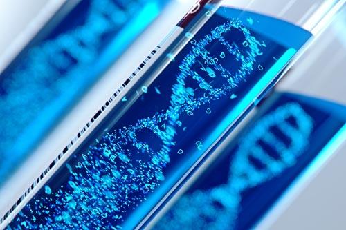 DNA inside of test tubes